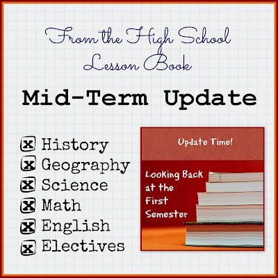From the High School Lesson Book - Mid-Term Update on Homeschool Coffee Break @ kympossibleblog.blogspot.com  #homeschool  #highschool