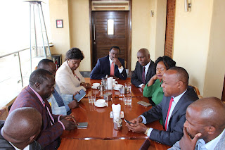Ukambani leaders, Kalonzo Musyoka, Charity Ngilu, Wavinya Ndeti and others join to form one unity party in Eastern region. PHOTO | Courtesy
