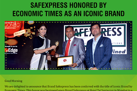 Safexpress honored as Iconic Brand by Economic Times (ET)