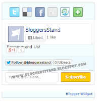 4 In 1 Social Media Sharing & Subscription Widget