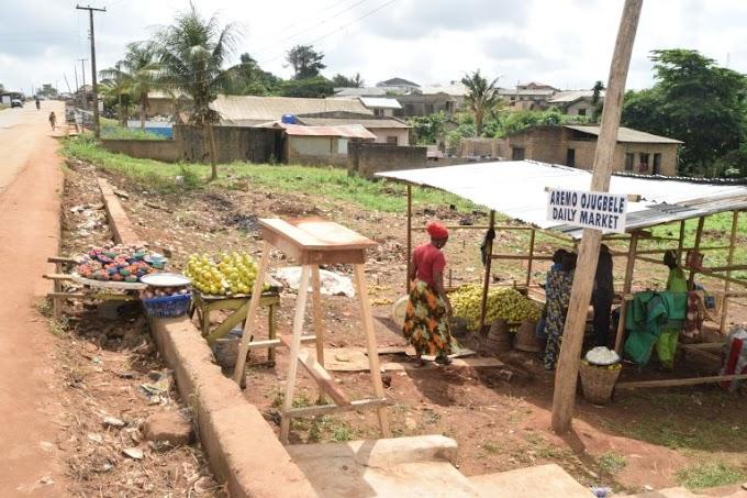 A Newly Market Established At Ota