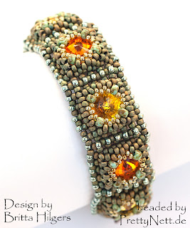 "Bracelet ""Stones in the River"" beaded by PrettyNett.de"