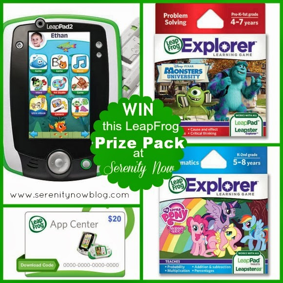 Win a LeapFrog Prize Pack Giveaway at Serenity Now!