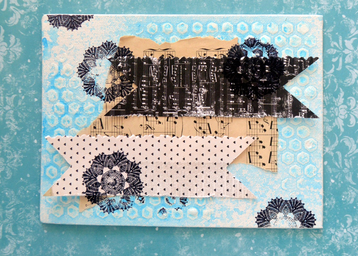 Happy canvas by Agnieszka Bellaidea using Star Crossed Collection