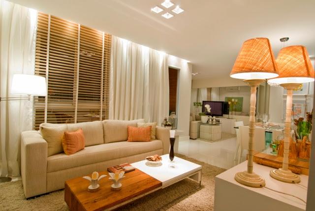 Construindo minha casa clean salas de estar e de tv for Sala de estar com um sofa