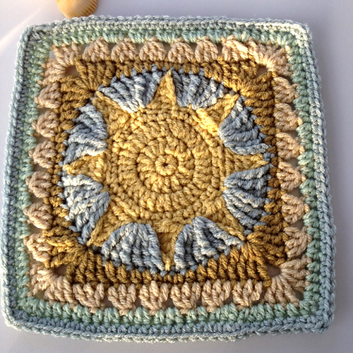 """African Sun 9"""" Square - Free Pattern"""