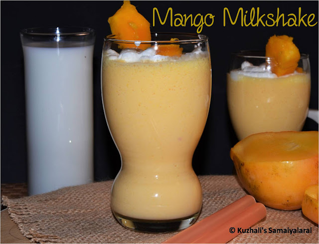 MANGO MILKSHAKE RECIPE / RIPE MANGO SHAKE - SUMMER RECIPES
