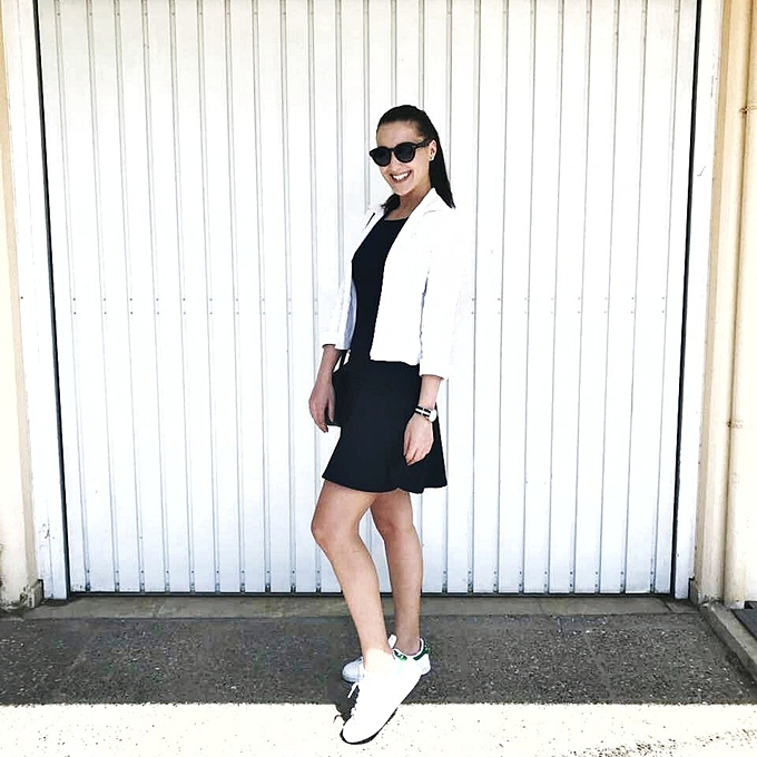 Jelena Zivanovic Instagram.Best tennis outfits.Adidas Stan Smith outfits.