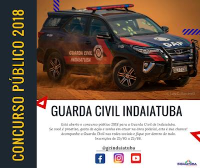 Concurso público 2018 - Guarda Civil de Indaiatuba