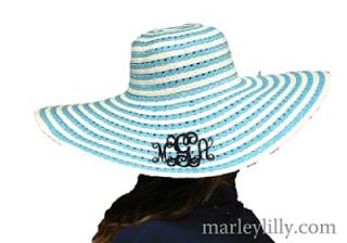 Monogrammed Swirl Derby Hat
