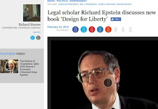 Richard Epstein law professor Design for Liberty