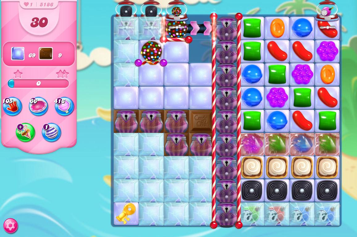 Candy Crush Saga level 5186