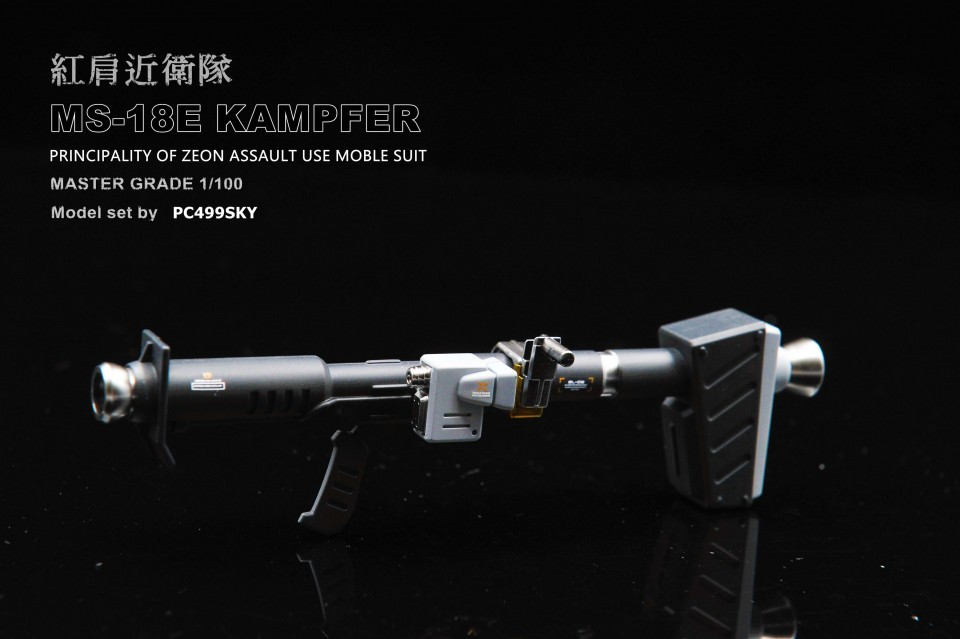 Custom Build: MG 1/100 MS-18E Kampfer [Metallic Finish]