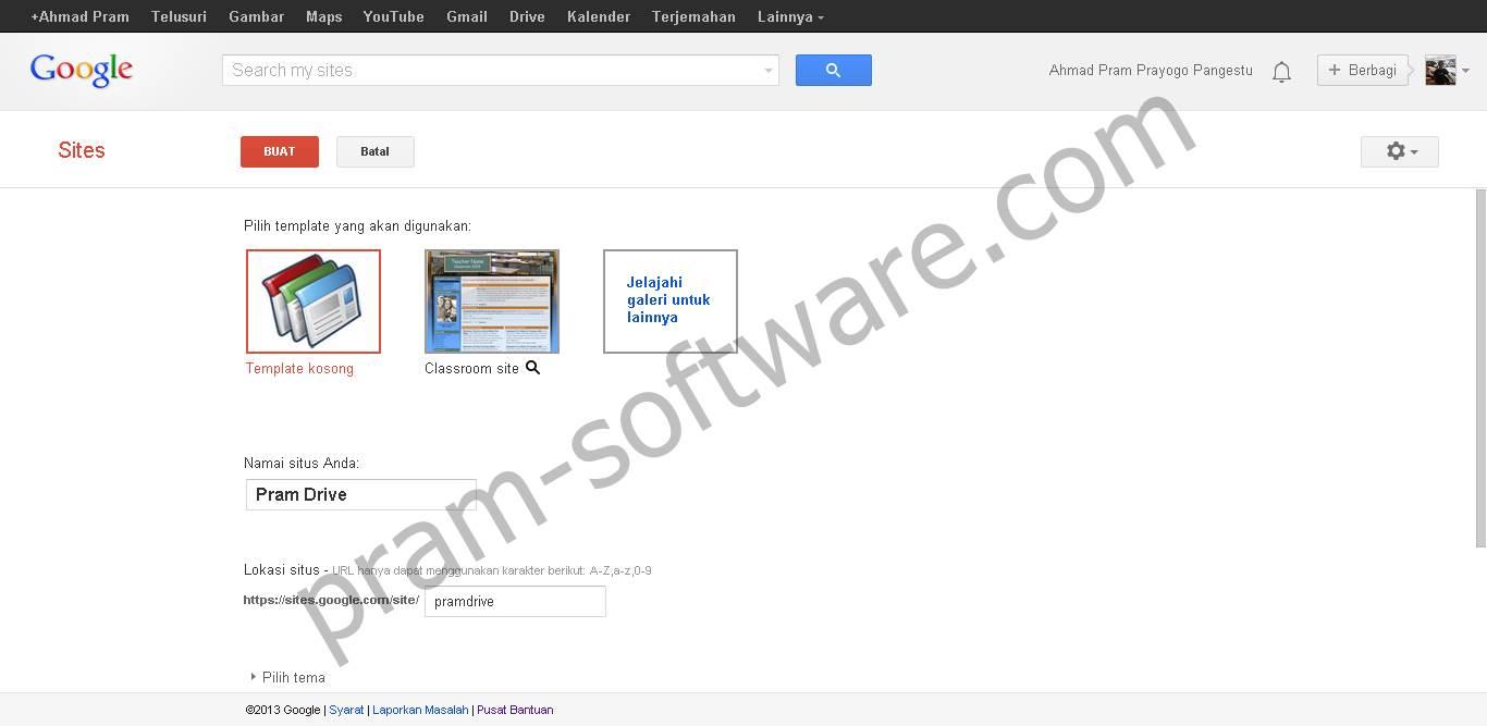 Form Pendaftaran Google Sites