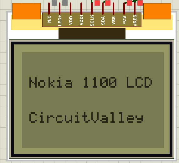Embedded Engineering Nokia 1100 LCD Interfacing with Microcontroller