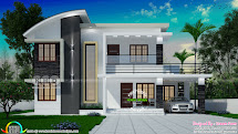 1991 Square Feet 4 Bedroom Modern House Plan - Kerala Home