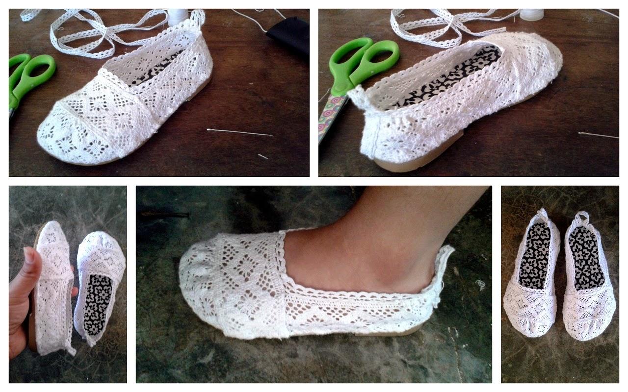 Zapatillas para ni a de encaje crochet paso a paso - Ideas para decorar zapatos de nina ...