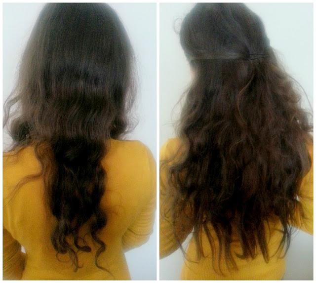 efekt przed i po przedłużeniu włosów
