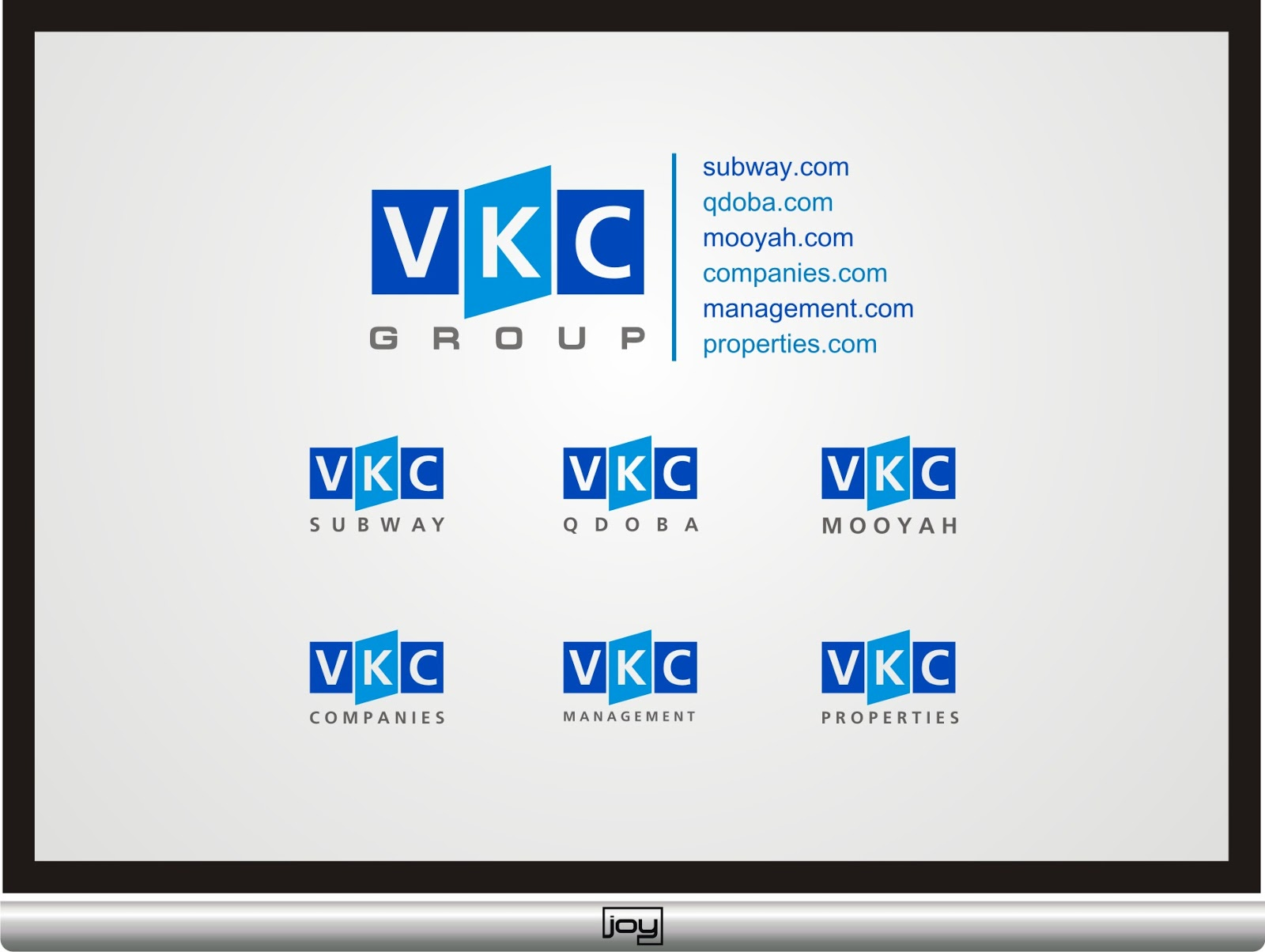 ... simple concept just combine three letters vkc in three boxes a box in
