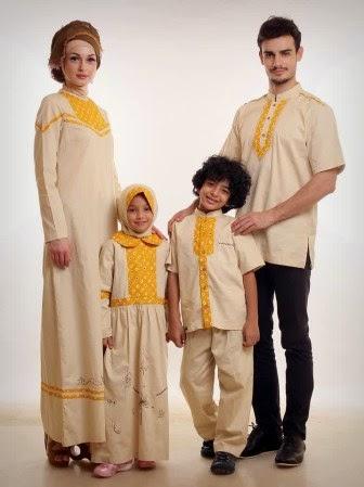 Desain baju muslim couple keluarga yang modis