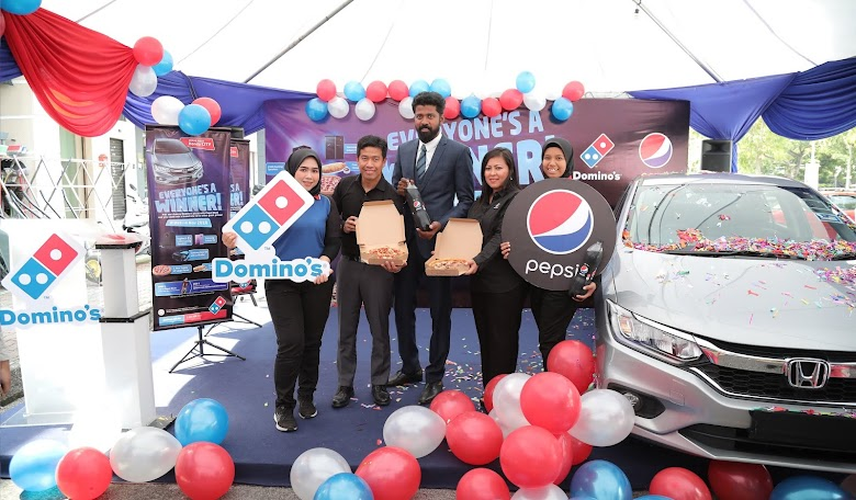 """""""Domino's Pizza & Pepsi Black  Rewards Customers with Prizes Totalling RM130,000  Grand Prize of a Honda City Up for Grabs"""""""