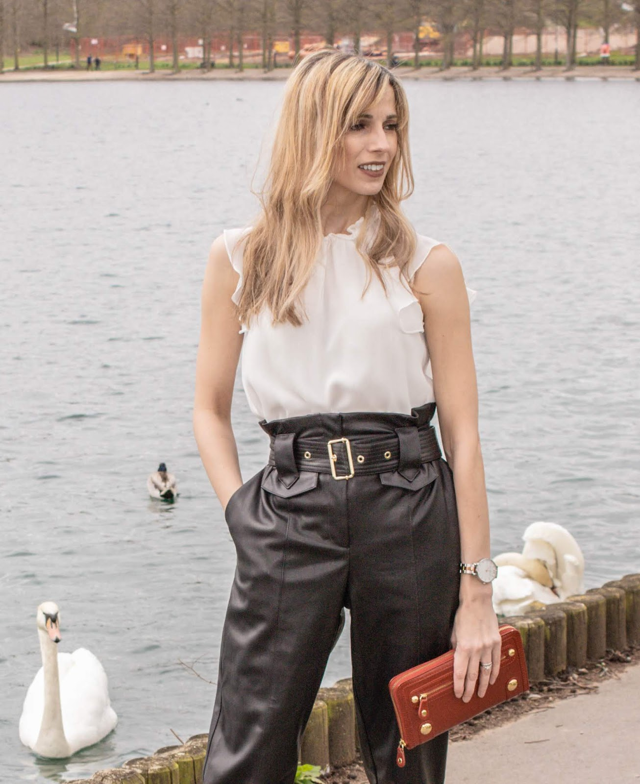 Faux Leather Trousers Outfit