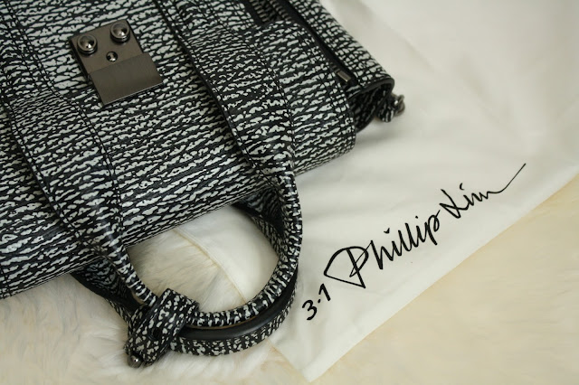 3.1 phillip lim 31 pashli mini black and white monochrome two color bag nano