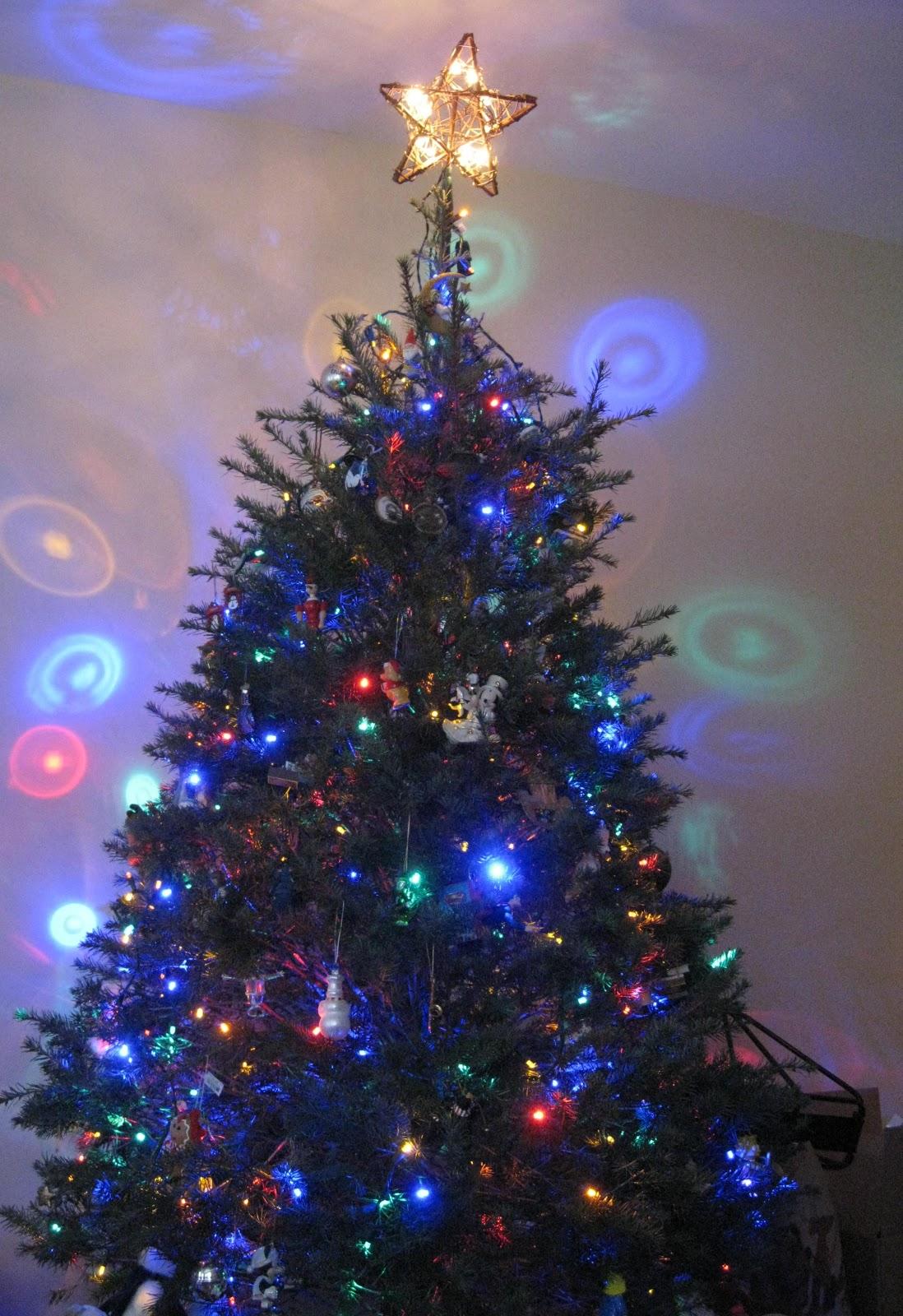 Christmas Tree Disco Ball Light