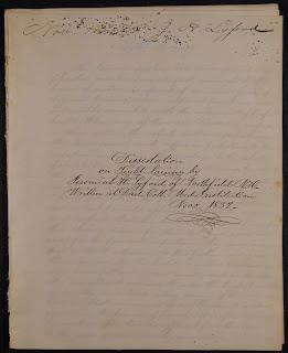 A handwritten title page.