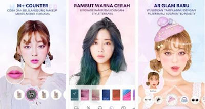 Download App Editan Foto Jaman Now HP Android Kekinian APK MakeupPlus - Editor Selfie