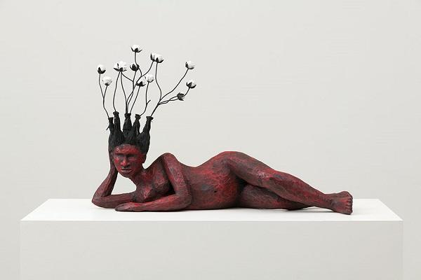 "Alison Saar - ""Bitter Crop"", 2018 - wood, steel, bronze, acrylic and tar | imagenes obras de arte figurativo, esculturas figurativas, chidas, bonitas | art pictures, cool stuff"