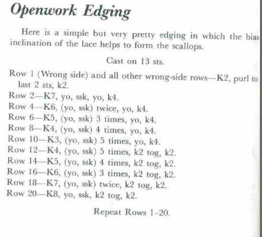 Openwork Edging