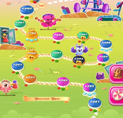 Candy Crush Saga level 5391-5405