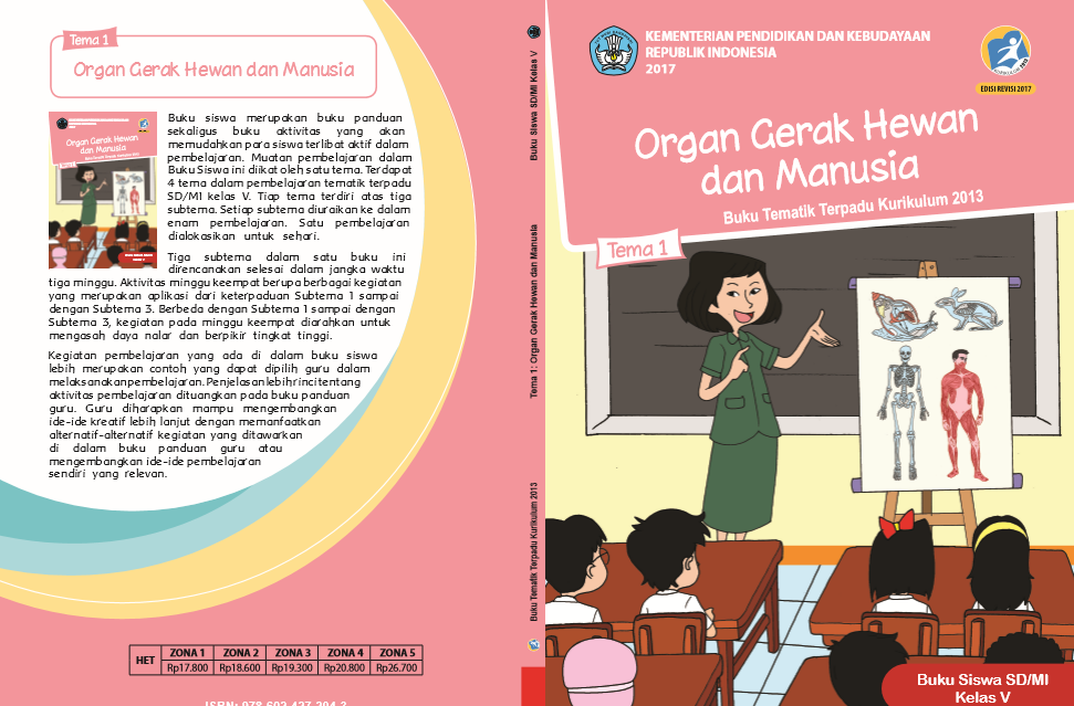 Soal tematik kelas 5 tema 1 subtema 1 organ gerak hewan dan manusia pada video pembelajaran ini kami ingin berbagi. Buku K13 SD Kelas 5 Revisi 2017 Semester I (Tanpa