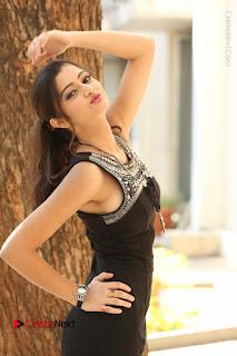 Actress Poojitha Pallavi Naidu Stills in Black Short Dress at Inkenti Nuvve Cheppu Movie Platinum Disc Function  0069.JPG