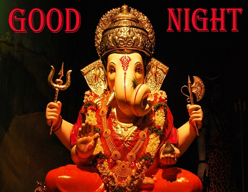 Good Night Ganesh Pics HD