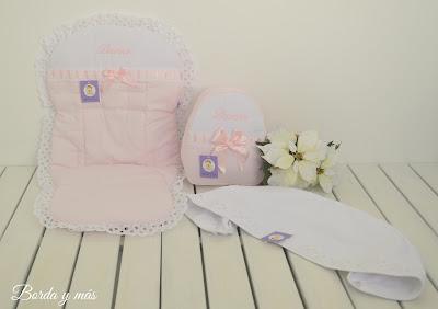funda rosa blanco bugaboo bee