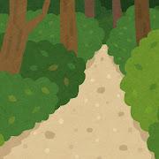 山道のイラスト(背景素材)