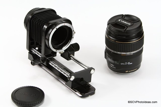 Overview Bellows for Canon EF w/ rail and EF-S 17-85 IS USM