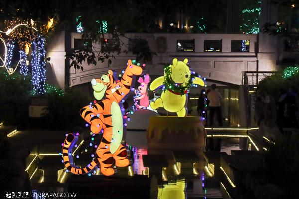 2019台中耶誕夢想世界|綠川水岸|米奇與米妮|小熊維尼與好朋友們