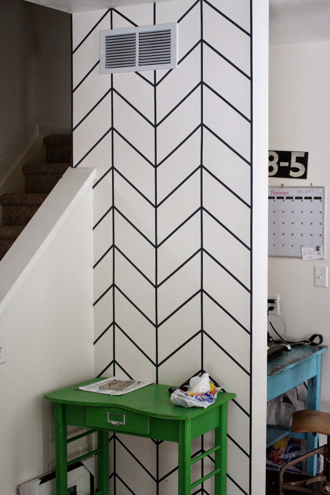 shannan martin writes diy washi tape front entry wall. Black Bedroom Furniture Sets. Home Design Ideas