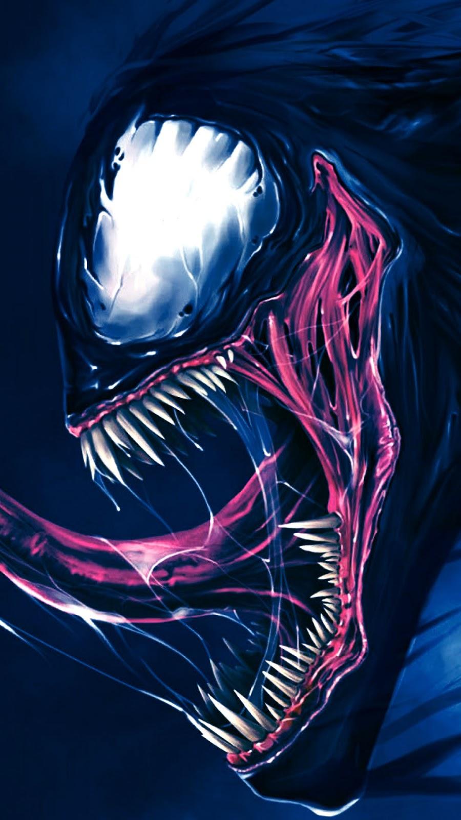 Papel de parede grátis Venom Fan Arte para PC, Notebook, iPhone, Android e Tablet.