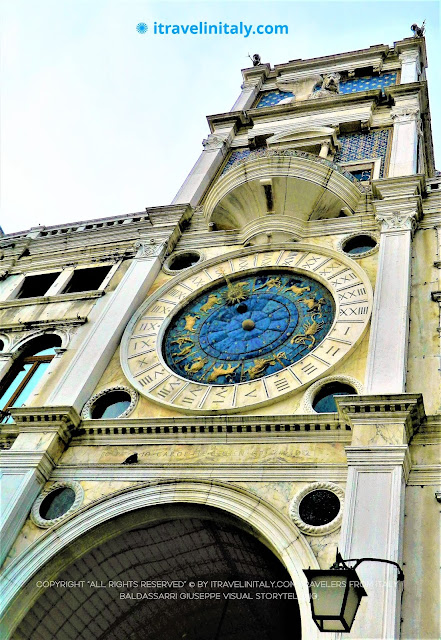 "The Clock Tower in Piazza San Marco in Venice Copyright ""All rights reserved"" © by itravelinitaly.com travelers from Italy Baldassarri Giuseppe Visual Storytelling."