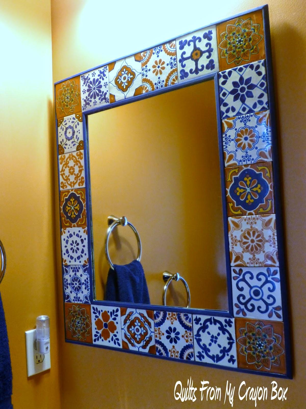 Hubby Rocks My Talavera Tile Mirror