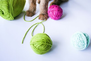 DIY Catnip Yarn Ball