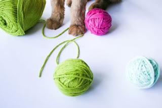 DIY Catnip Yarn Ball