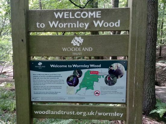 Photograph of The sign at the entrance to Wormley Wood Image by Hertfordshire Walker, released under Creative Commons BY-NC-SA 4.0