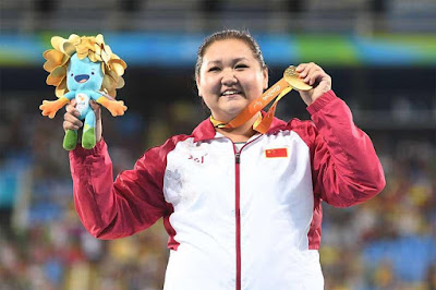 China's Wang Jung Created A New World Record in Paralympic in Shot put By Achieving 13.91 metres