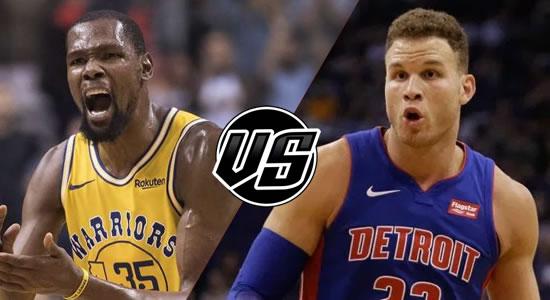 Live Streaming List: Golden State Warriors vs Detroit Pistons 2018-2019 NBA Season