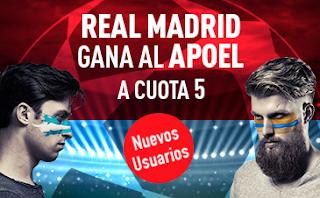 sportium Supercuota 5 Real Madrid gana APOEL codigo JRVM 13 septiembre